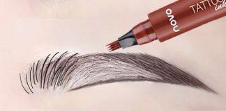 Cách vẽ chân mày phẩy sợi